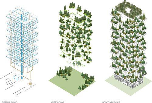 Лес на высотных домах
