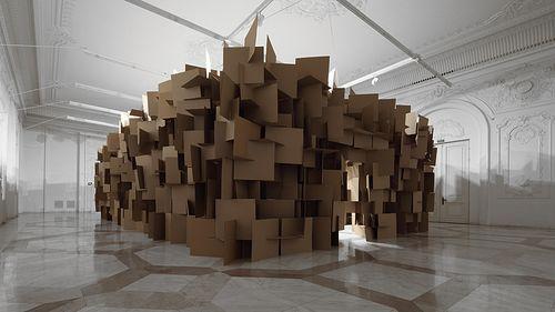 Музыкальная скульптура от Zimoun (ВИДЕО)