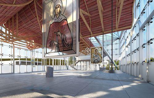 Проект стеклянной церкви