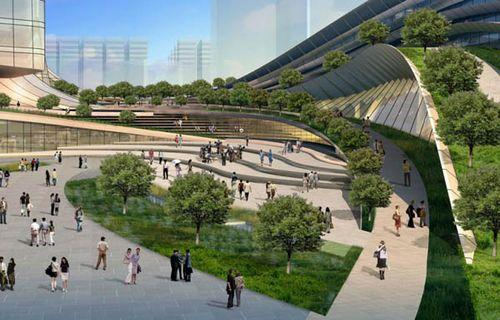 Проект вокзала Express Rail Link West Kowloon Terminus