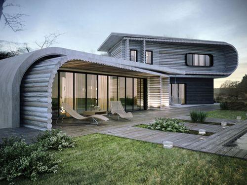 Современный дом из сруба