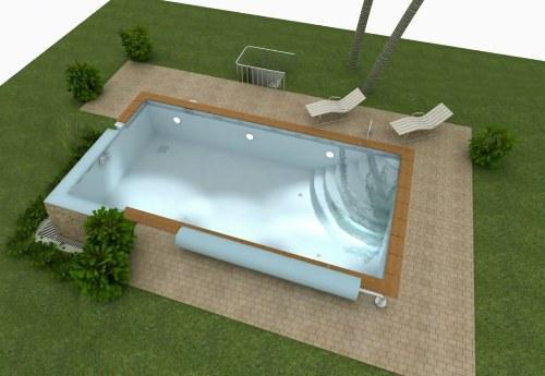 Устройство открытого бассейна