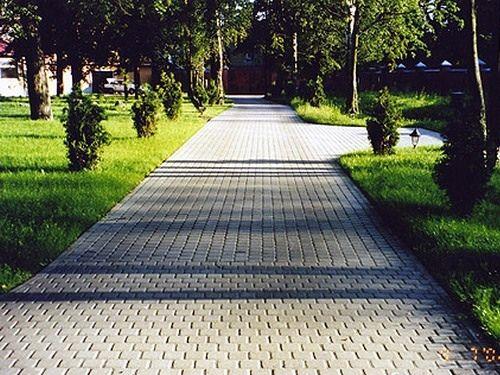 Тротуарную плитку