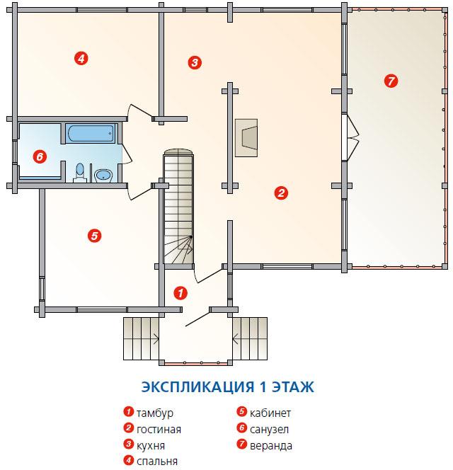 План 1 этажа (Фото: Елена Галич)