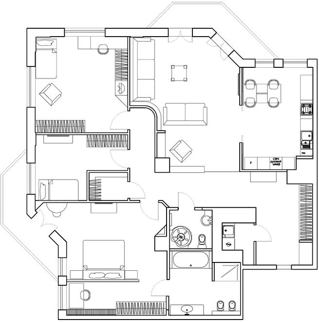 Проект дизайн квартиры