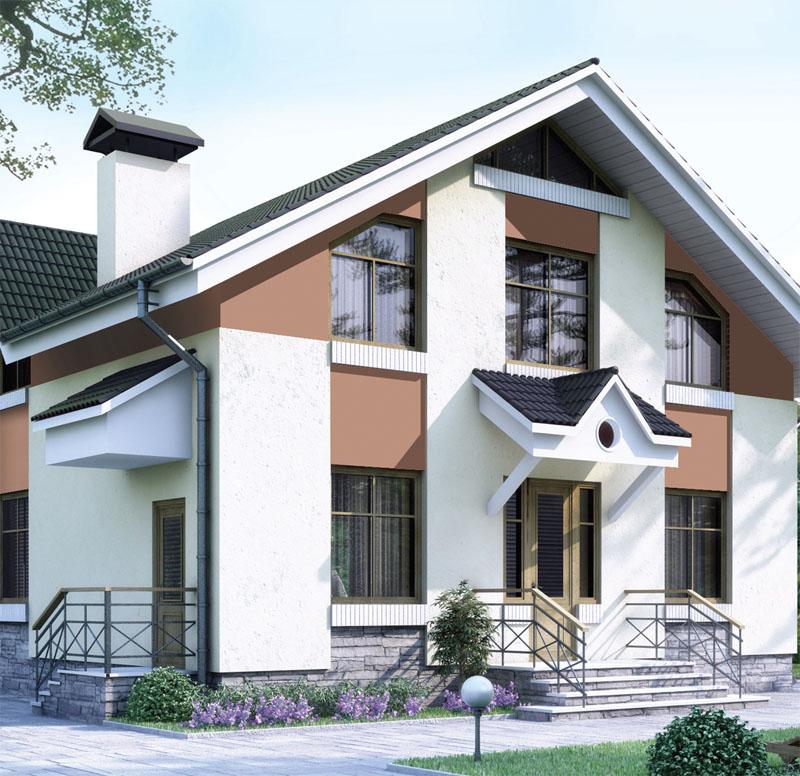 Дом на квадратном участке