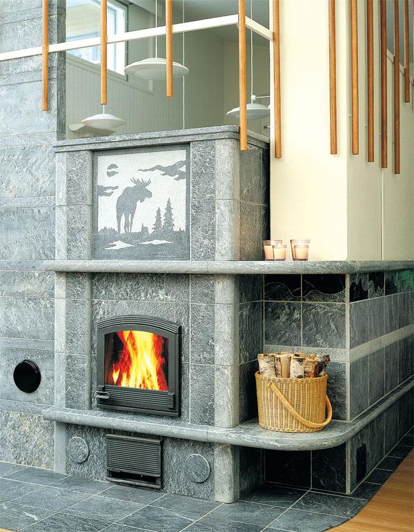 Такой камин способен обогреть зимой весь дом и не зависеть от газовых проблем