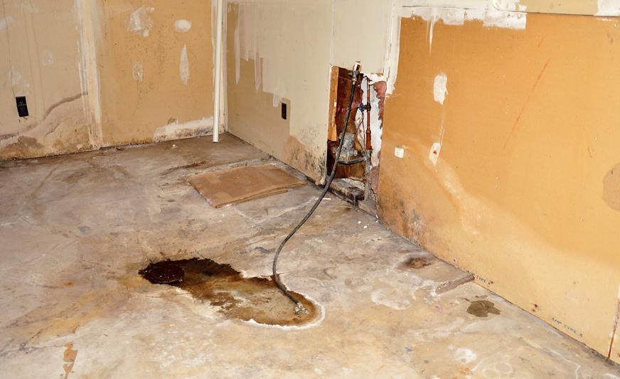Если подземные воды залегают близко к поверхности земли и их заранее не выявить, они примерно так заявят о себе после возведения дома