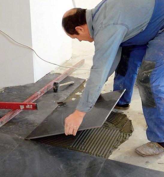 Укладывание плитки