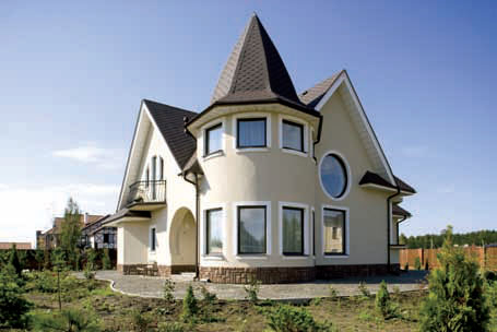 Выступающие детали здания стоит акцентировать более светлыми оттенками, чтобы «вынести» их на передний план.