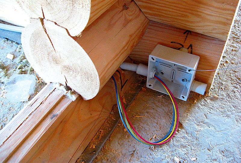 Монтаж электросети, прохождение электрокабеля из одного помещения в другое