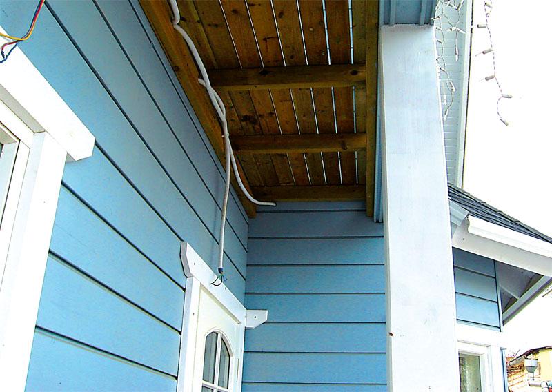 Выводы для наружных светильников, предназначенные для подсветки террасы и балкона