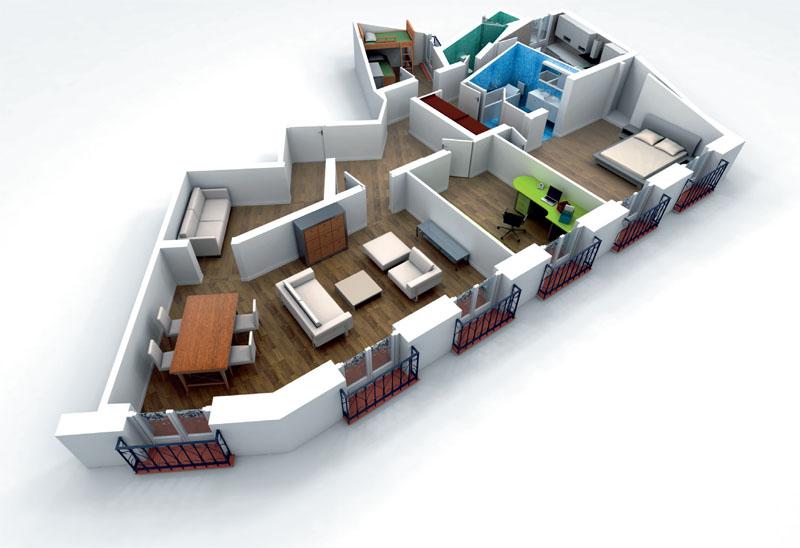 З-D модель интерьера
