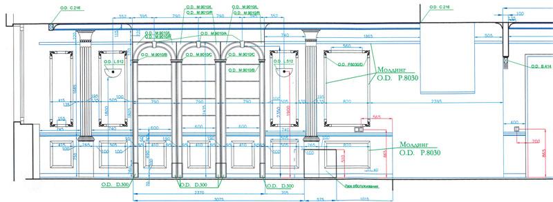 Развертки стен прочерчивались в AutoCAD, что позволило с профессиональной точностью использовать полезную площадь