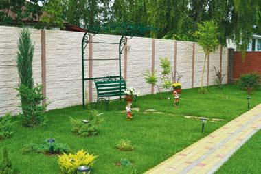 Забор из бетона (Фото: Garden design)
