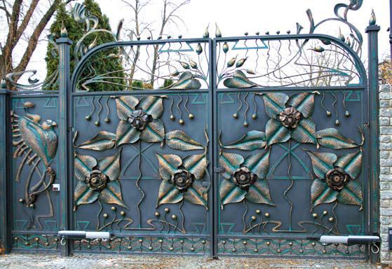 Забор из металла (Фото: Елена Сладких)