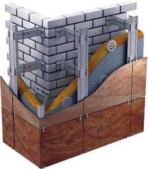 В дорогостоящей многослойной стене утеплитель обязательно защищен дополнительным облицовочным слоем