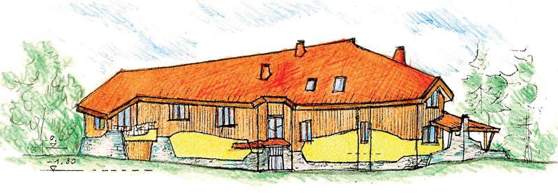 Эскиз дома (вид сбоку)