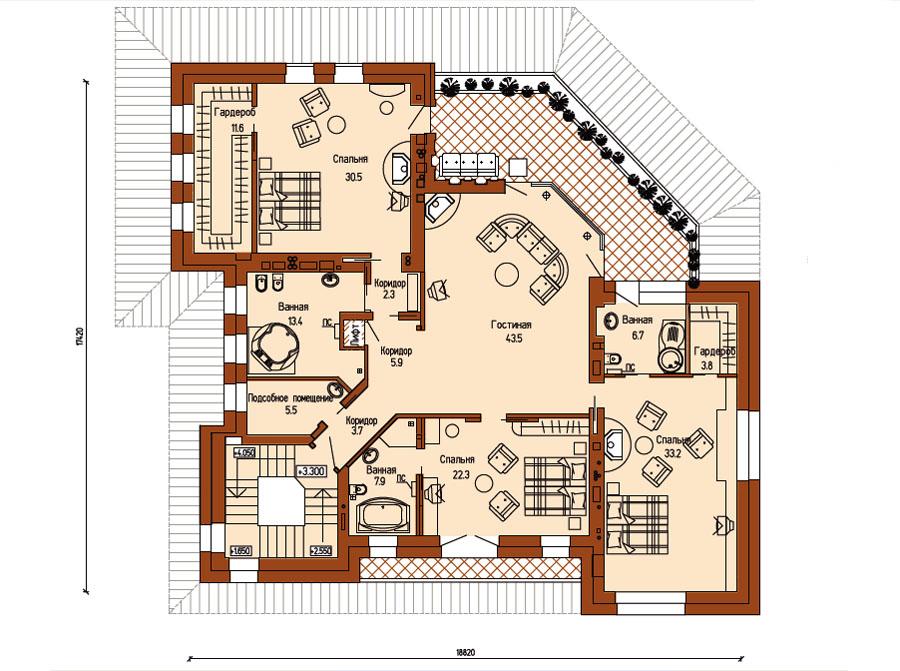 План дома: 2-й этаж