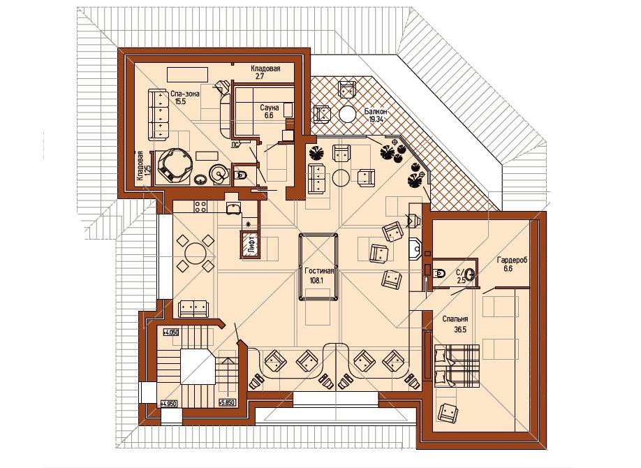 План дома: мансарда