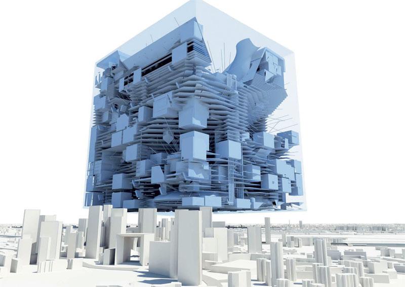 «Большой Париж» – собрание смелых и даже радикальных проектов решения проблем французской столицы. Бюро MVRDV предлагает проект ироничного гиперуплотнения городского пространства для создания Большого Парижа как наиболее компактного города в мире.