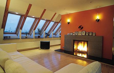 мансардная комната - оригинальное решение размещения гостиной