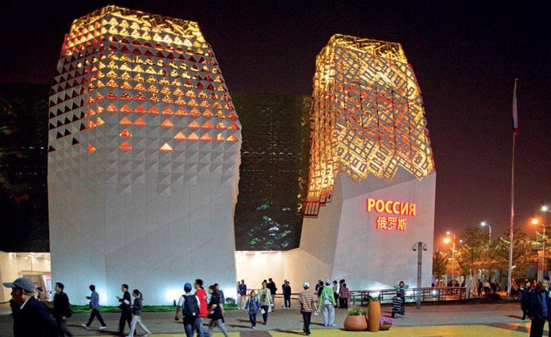 Национальный павильон России Авторы проекта: Левон Айрапетов (главный архитектор), Борис Краснов (сценографическая концепция)