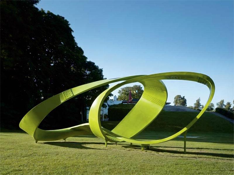 Серия работ команды 3XN из цикла «Уроки природы», разместившаяся в парке скульптуры выставки green Architecture for the Future (Фото: 3XN)