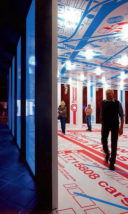 Часть инсталляции испанского архитектурного бюро ecosistema Urbano, направленной на поиск специфики социальных, коммуникативных и эстетических усовершенствований, необходимых устойчивому городу будущего (Green Architecture for the Future)