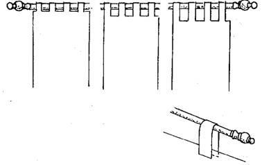 Как сделать петельки на шторы: завязать бантиком, сшить или связать крючком