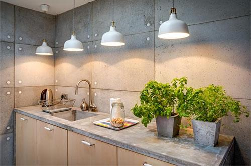Аксессуары из бетона в интерьере дома