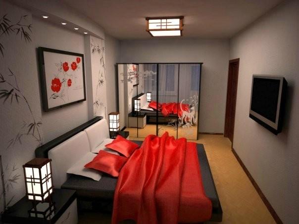 Cпальня 17 кв.м дизайн: цвет, кровать, декор