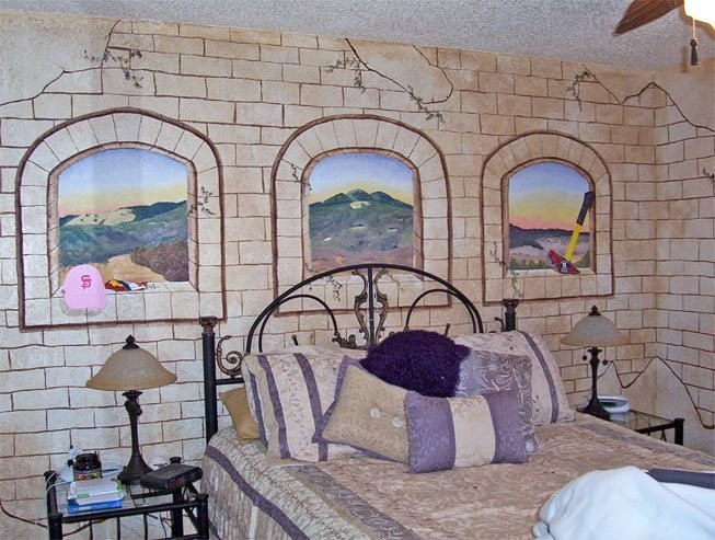Декор стен в спальне своими руками (фото)