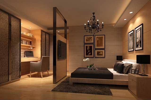Дизайн спальни без окна: варианты оформления, цветовые решения