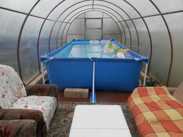 Как построить бассейн в теплице