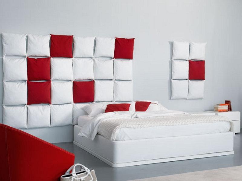 Оформление изголовья кровати в спальне тканью, обоями и прочим своими руками (фото)