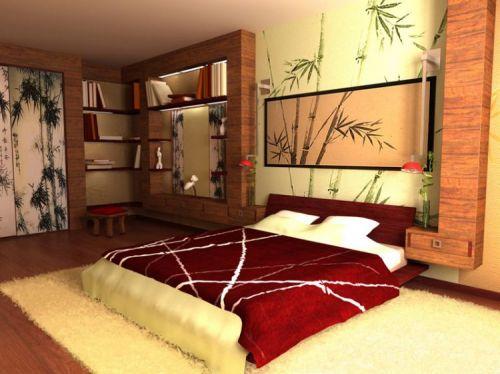 Спальня в японском стиле: интерьер, акценты, мебель