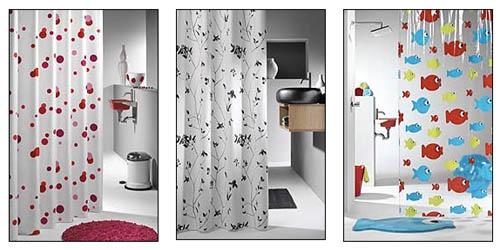 Занавески в ванной комнате