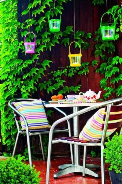 Зеленый уголок на балконе