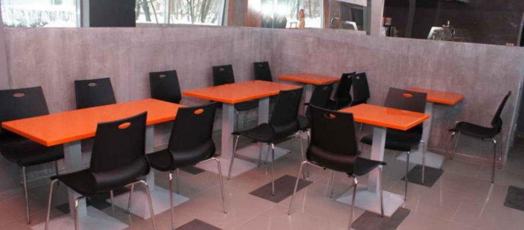 Столы для кафе из искусственного камня