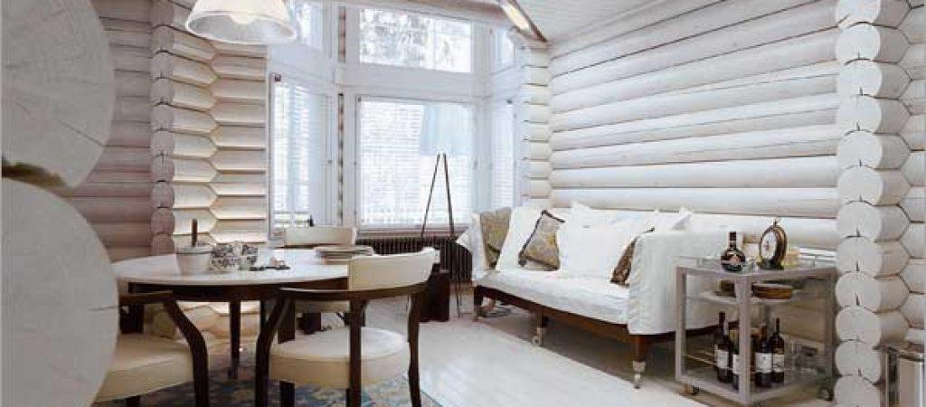 Зачем красить деревянный дом изнутри