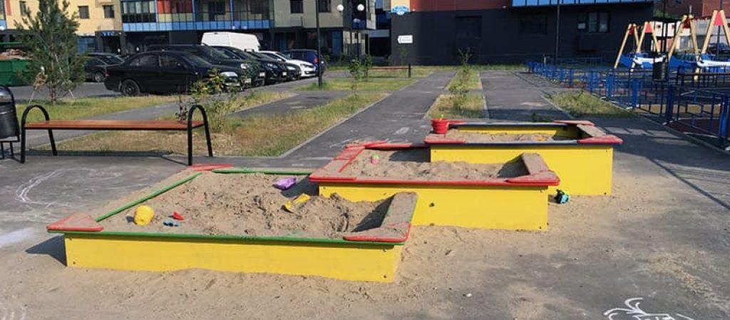 Где купить детскую песочницу для детской площадки и дачи?